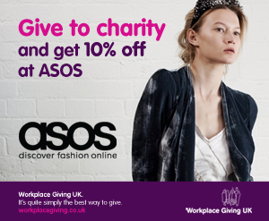 Give to charity and get 10% off at ASOS