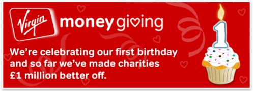 We're celebrating our first birthday and so far we've made charities £1 million better off