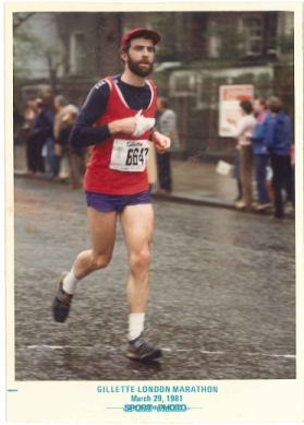 Angus runs 1981 London Marathon
