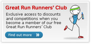 Great Run Runners' Club. Exclusive access to discounts and competitions when you become a member of our free Great Run Runners' Club. Find out more