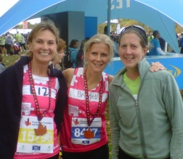 Liz, Rach and Bridget - After Half Marathon