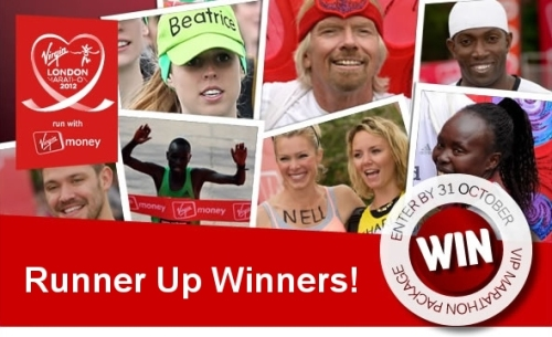 Virgin London Marathon VIP Competition Runner's up