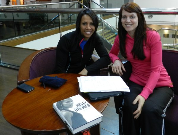 Dame Kelly Holmes with Eleanor Matthews