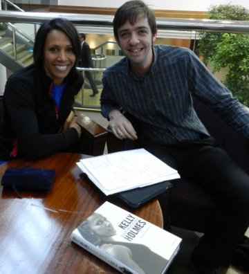 Dame Kelly Holmes with Grant from Virgin Money Giving