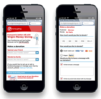 Virgin Money Giving Mobile