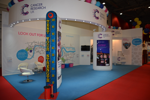 Cancer Research Charity Stand