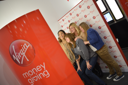 The Virgin Money Giving photobooths