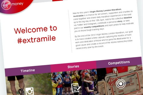 The #extramile website