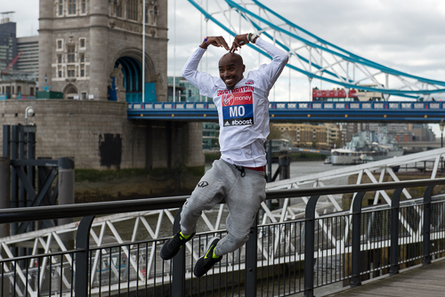 Mo Farah at the Virgin Money London marathon